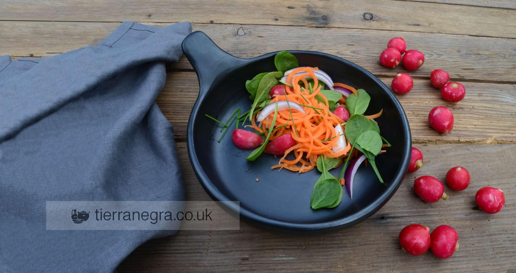 The perfect foil for colourful foods