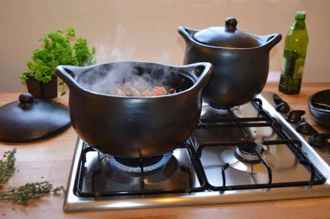 cooking on the hob