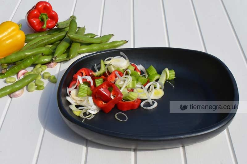 large oblong serving dish