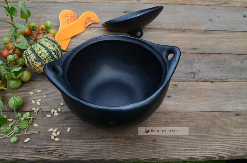 Deep ceramic casserole